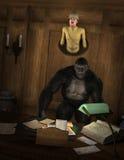 滑稽的大物猎手动物战利品 免版税图库摄影