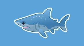 滑稽的大白鲨鱼 免版税库存照片