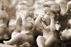 滑稽的天使男孩纪念品 图库摄影