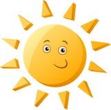 滑稽的太阳动画片例证 免版税库存图片