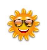 滑稽的太阳的概念与太阳镜的, 库存例证