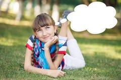 滑稽的女孩 免版税库存图片