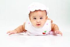 滑稽的女婴 库存照片