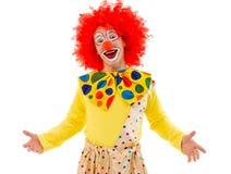 滑稽的嬉戏的小丑 库存照片