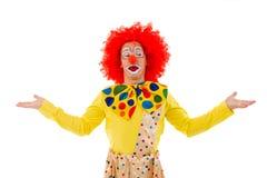 滑稽的嬉戏的小丑 免版税库存图片