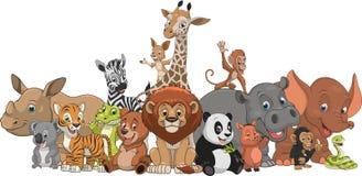 滑稽的孩子动物 库存例证