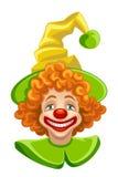 滑稽的小丑头 库存照片