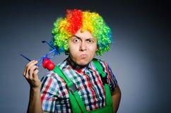 滑稽的小丑 免版税库存照片