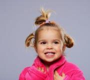 滑稽的小女孩 免版税库存照片