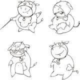 滑稽的小牛动画片 库存图片