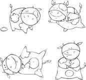 滑稽的小牛动画片 库存照片