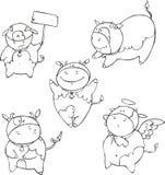 滑稽的小牛动画片 免版税库存图片