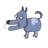 滑稽的小狗 免版税图库摄影