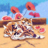 滑稽的小猫例证 免版税库存图片