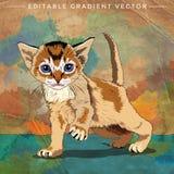 滑稽的小猫例证 免版税库存照片
