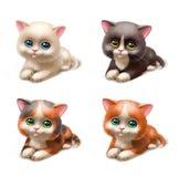 滑稽的小猫 免版税库存照片