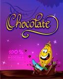 滑稽的巧克力传染媒介设计 库存图片