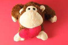 滑稽的布朗猴子 免版税库存图片