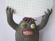 滑稽的彩色塑泥妖怪2 库存图片