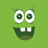 滑稽的微笑的妖怪微笑细菌字符 库存图片