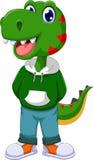 滑稽的恐龙动画片身分 免版税库存图片