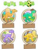 滑稽的恐龙的图象 库存照片
