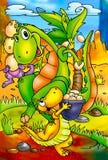 滑稽的恐龙 免版税库存图片
