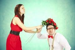 滑稽的情人节。 免版税图库摄影