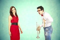 滑稽的情人节,系列另外接近行动 免版税库存图片