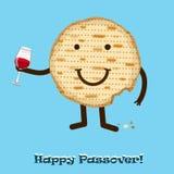 滑稽的愉快的犹太逾越节贺卡 也corel凹道例证向量 免版税库存图片