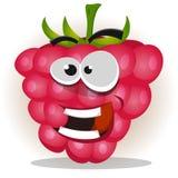 滑稽的愉快的莓字符 免版税库存照片