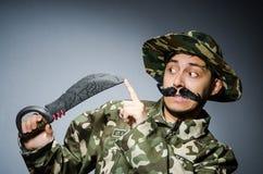 滑稽的战士 库存图片