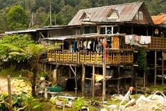 滑稽的房子在喀麦隆higlands,马来西亚2015年7月 库存照片