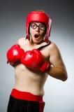 滑稽的拳击手 免版税库存照片