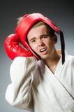 滑稽的拳击手 库存照片