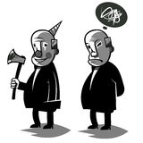 滑稽的政客,设置了两传染媒介例证 免版税图库摄影