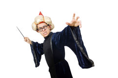 滑稽的明智的巫术师 免版税库存照片