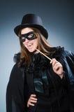 滑稽的概念的妇女魔术师 免版税图库摄影