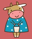 滑稽的母牛 免版税图库摄影