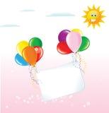 滑稽的气球纸 免版税库存图片