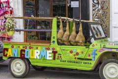 滑稽的汽车, ibiza,西班牙 图库摄影