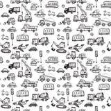 滑稽的汽车 哄骗无缝的样式纹理 免版税库存图片