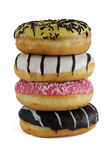 滑稽的油炸圈饼 免版税库存图片