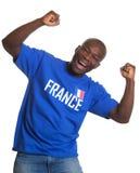 滑稽的法国体育迷 免版税库存照片