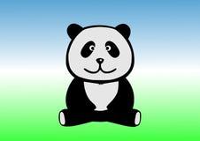 滑稽的熊猫坐地面 库存图片
