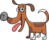 滑稽的狗动画片例证 免版税库存图片