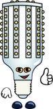 滑稽的电灯泡 库存图片