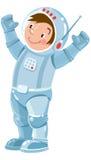 滑稽的男孩宇航员或宇航员 免版税库存照片