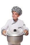 滑稽的男性厨师 库存图片