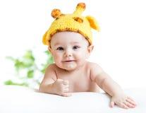 滑稽的男婴 免版税库存照片